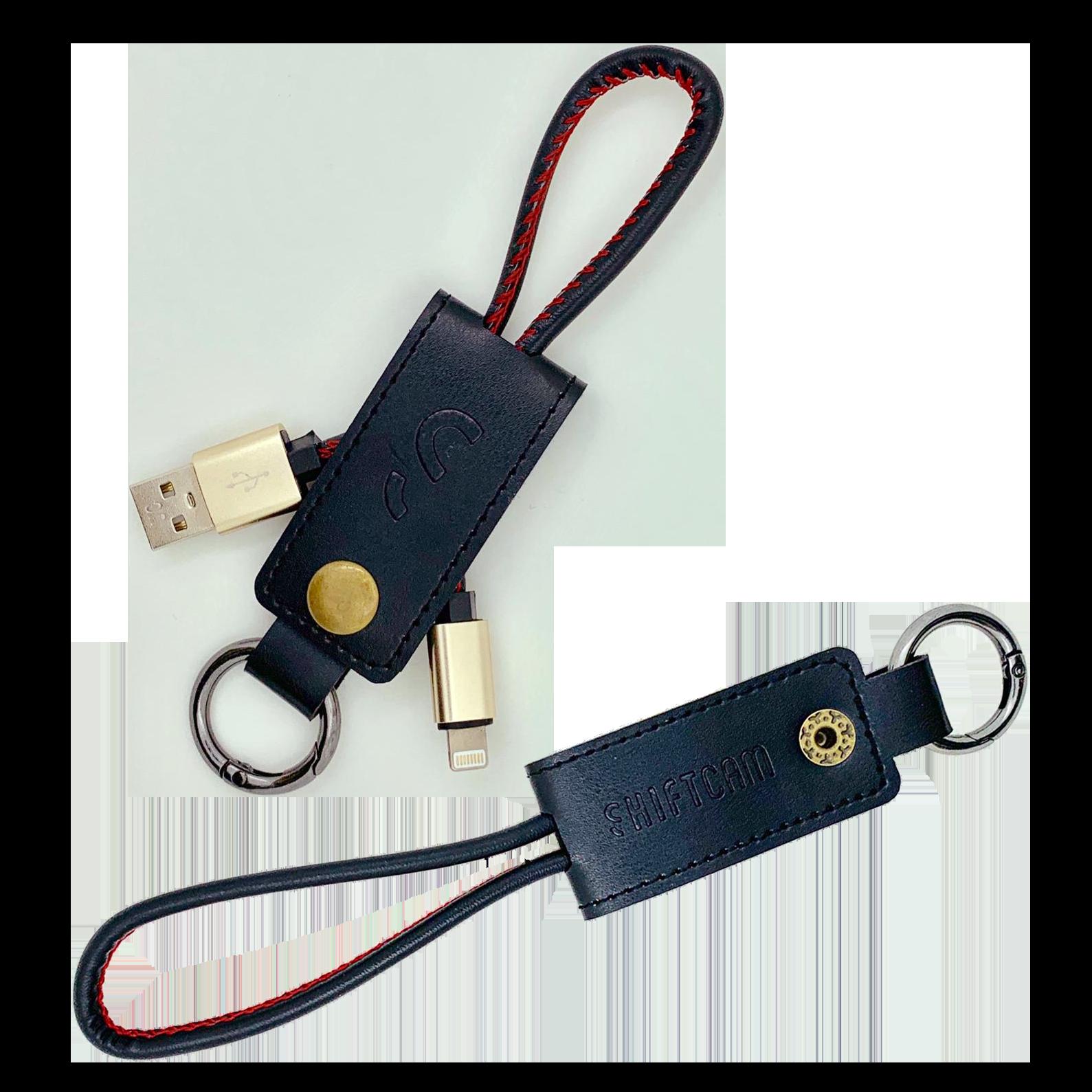 ShiftCamロゴ入りライトニングケーブル付きキーホルダー