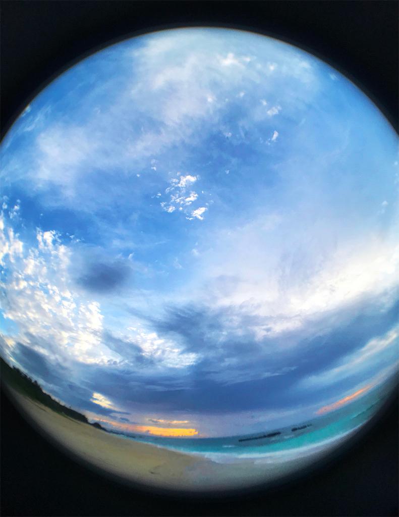 Evening / ウドノスビーチの夕暮れ